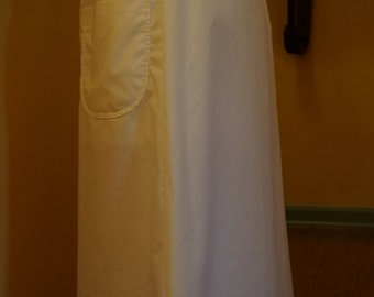 READY TO SHIP Long White Skirt | Scrub Skirt | Nursing Skirt | Modest Scrubs | Modest Nursing Uniform | Long Scrub Skirt | Maxi Scrub Skirt