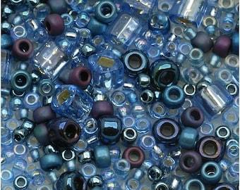 TOHO seed beads mix - Yumi (periwinkle)