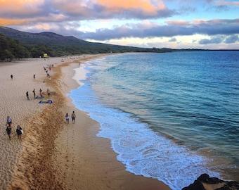 Makena Beach Photograph Print, Ocean, Water, Beach Life Maui, Hawaii, Home Decor, Wall Art, Photography