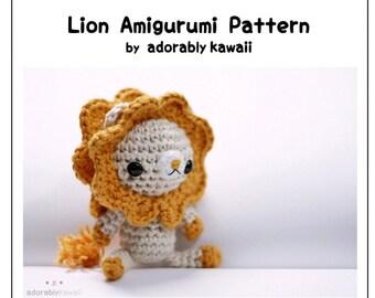 Lion Amigurumi Pattern, Amigurumi Crochet Pattern, Crochet Lion Pattern, PDF Amigurumi Pattern, Lion Plushie, Cute Amigurumi Pattern
