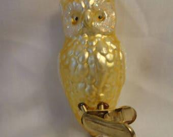 Christmas Owl Ornament Vintage 1950's