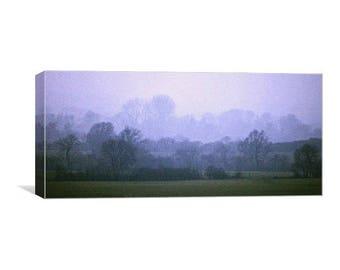Misty Blue Panoramic Canvas Print
