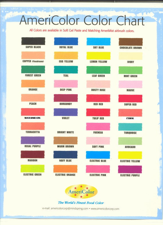 0.65 oz AmeriMist Air Brush Food Color Americolor - ALL COLORS ...