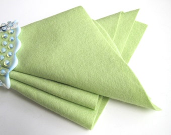 Light Green Felt, 100% Wool, Choose Size, Pastel Green Felt, Wool Applique, Waldorf Crafts, Die Cutting, Felt Flowers, Toxin Free, Washable