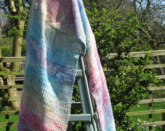 Lacey Carousel  - a hand-woven shawl