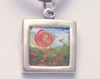 Necklace Painting - Poppies