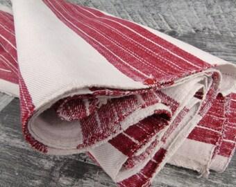 French Grain Sack Upholstering fabric Antique linen roll Vintage linen Stairrunner Tablerunner