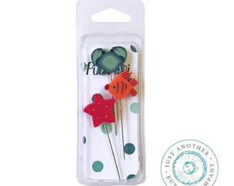 SEA FRIENDS Pin Mini | Just Another Button Company | 3 Decorative Stainless  Steel Sewing Pins | Starfish Crab Fish Pins
