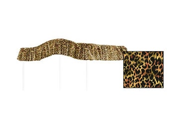 TWIN SIZE Leopard Print Canopy Bed Fabric Top