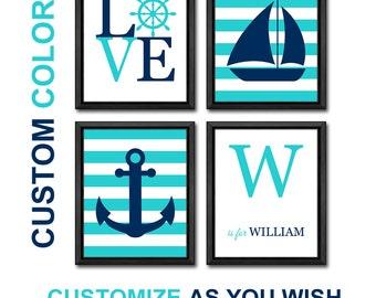 nautical kids room decor, nursery decor nautical, nautical boy nursery, nautical kids wall art, nautical nursery prints sail boat anchor