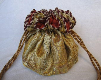 Brocade Jewelry Bag - Luxury Size - Travel Tote - Pouch for Jewelry - MIDAS TOUCH