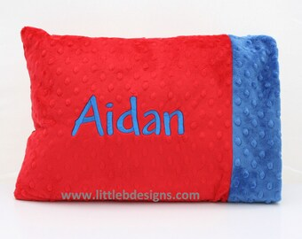 Personalized Minky Toddler / Child Pillow - Over 24 Minky Colors to Choose From
