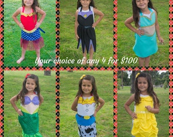 Any Four Dress Up Aprons for 100 Dollars
