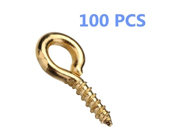 100 PCS Small Screw Eyes, Eyelet Screws, Hooks and Eyes, Hoop Pins for Jewelry Making