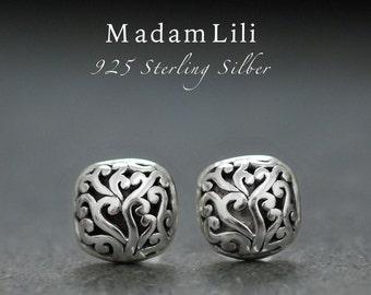 925 sterling silver ear studs - Live Pleasure