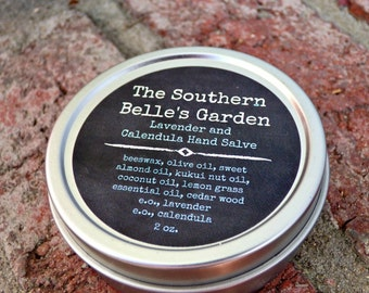 Lavender and Calendula Herbal Skin Salve Handcrafted with Nourishing Oils for Dry Hands and Body