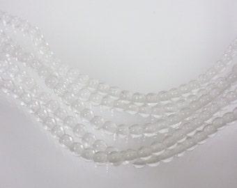Czech Glass: 3mm Druk Transparent Crystal 38125