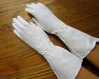 Long white gloves | Etsy