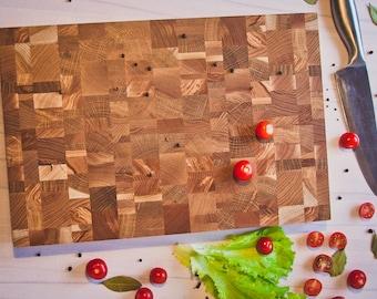 End Grain Cutting Board, Wood Cutting Board, Butcher Block, Chopping Block, Serving Board, Kitchen Board, Bread Board, Cheese Board, Large