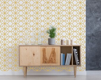 Mid Century Modern Wall Art, Geometric Wall Decal, Wall Pattern Decal, Geometric Wall Art, Modern Wall Decor, Office Wall Decor, Nursery Art