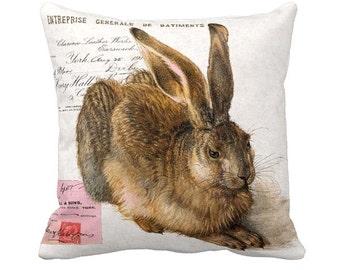 Pillow Cover Bunny Rabbit Woodland Rabbit Easter Pillow