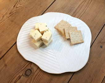 Ceramic serving platter, Ceramic cheese platter, Ceramic decorative plate, Modern cheese board, Stoneware serving tray, Pottery cheese tray