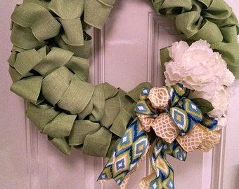 Custom Linen Spring Wreath