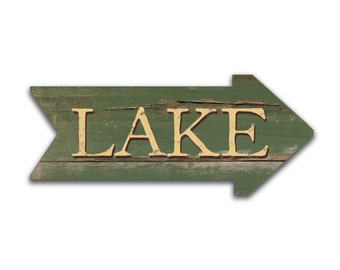 Wooden arrows Lake arrows lake decor custom arrows blue arrow red arrow green  black arrow lake house signs cabin decor lake art arrow signs