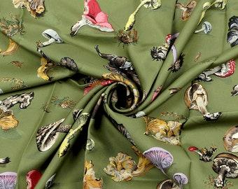 """HERMES SCARF Silk """"Champignons"""" by Anne Gavarni & Françoise De La Perriere Vintage 90cm Carre 100% Auth"""