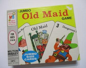Vintage Milton Bradley 1968 Old Maid Jumbo Cards-Complete
