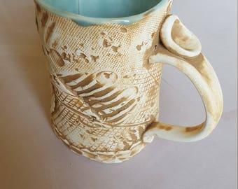 Tall Celadon Mug