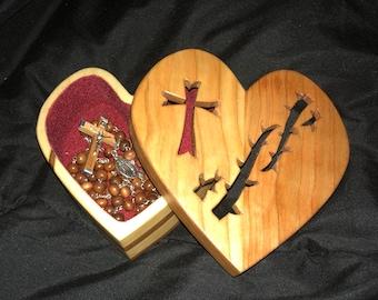 Sacred Heart Rosary or keepsake box