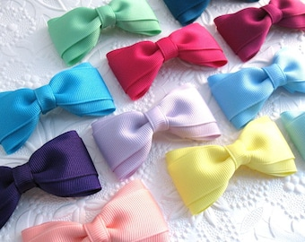 Set of Grosgrain Hair Bows, Toddler Bows, Simple Hair Bows, Girls Hair Bows, Hair Bow Set, Hair Bow Clips, Back to School Bows
