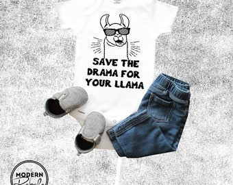 Cool baby onesie®, Baby onesie®, Save the drama for your llama, Baby shower gift, llama onesie®, Baby girl, Baby boy, Toddler Shirt Newborn