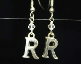Personalized Initial Earrings Letter R