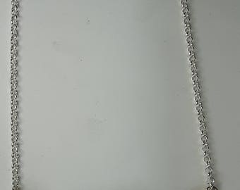 Silver necklace After Hailstorm