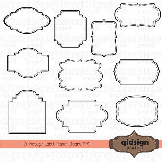 Vintage etiqueta marco gráfico Scrapbook embellecer el Blog