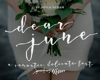 Wedding font download, modern calligraphy typeface, calligraphy font, handwritten font, romantic font watercolor, cursive font