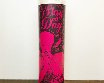 Slay All Day // 7 Day Altar Candle, Saint Candle