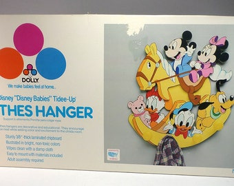 Vintage Disney Babies Tidee-Up Clothes Hanger, Pin-Ups Wall Decor, NEW, The Dolly Toy Co, Nursery, Baby's Room