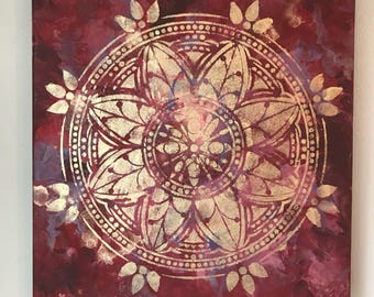 Gold mandala painting