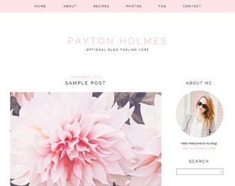 "Blogger Template, Blog Template - ""Payton 