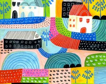 Print: Lisa Congdon Large Landscape Study