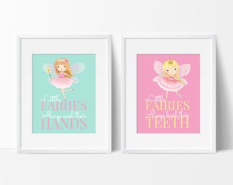 Fairy Bathroom Decor, Little Girls Bathroom, Girls Bathroom Art