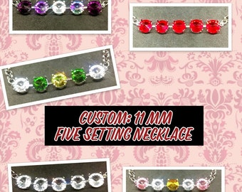 Five Setting Necklace (11mm)