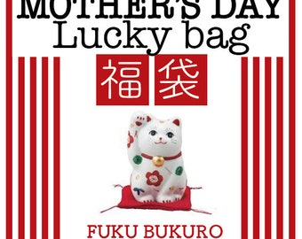 MOTHER'S DAY Gift Lucky Bag, Japanese FUKUBUKURO, Lucky box, lucky dip bag, Mystery box, jewelry, accessories, Worth at least 50, 100