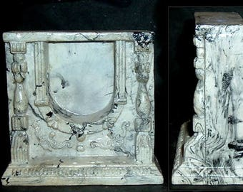 Miniature FIREPLACE - Marble Like Ceramic