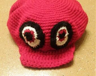 Mario Odyssey hat Pattern, Cappy Pattern, Super Mario Cap Pattern, Red-White-Hand Made Hat Pattern-Crochet Pattern