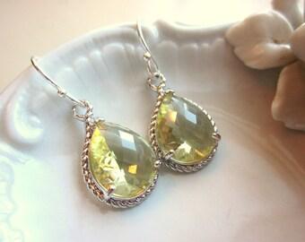 Citrine Earrings Yellow Silver Earrings Bridesmaid Earrings Wedding Earrings Valentines Day Gift