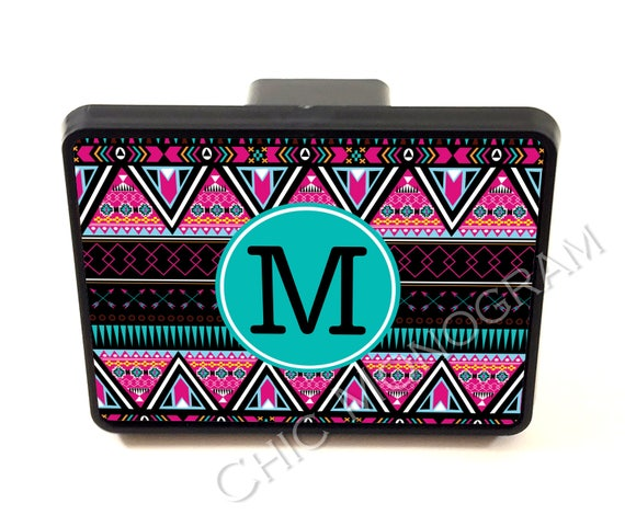 Aztec Trailer Hitch Cover Personalized Monogrammed Custom Gift Car Accessories Accessory Truck Aztec Tribal Cute Car Accessories For Women